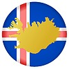 Векторный клипарт: Флаг кнопки цвета Исландии