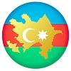 Векторный клипарт: Флаг кнопки цвета Азербайджана