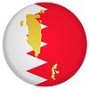 Векторный клипарт: Флаг кнопки в цвета Бахрейна