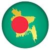 Векторный клипарт: Флаг кнопки цвета Бангладеш