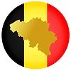 Vector clipart: flag button in colours of Belgium