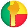 Векторный клипарт: Флаг кнопки цвета Бенин