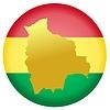 Векторный клипарт: Флаг кнопки цвета Боливии