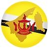 Векторный клипарт: Флаг кнопки цвета Бруней