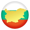 Векторный клипарт: Флаг кнопки цвета Болгарии