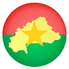 flag button in colours of Burkina Faso