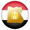 Векторный клипарт: Флаг кнопки цвета Египет