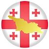 Векторный клипарт: Флаг кнопки в цветах Грузии