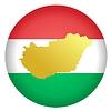 Векторный клипарт: Флаг кнопки цвета Венгрии