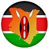 Векторный клипарт: Флаг кнопку цветов из Кении