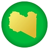 Vector clipart: flag button in colours of Libya