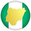 Векторный клипарт: Флаг кнопки цвета Нигерии
