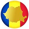 Векторный клипарт: Флаг кнопки цвета Румынии