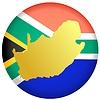 Векторный клипарт: Флаг кнопки в цветах ЮАР