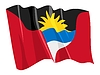 Vector clipart: waving flag of Antigua and Barbuda