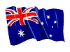 Vector clipart: waving flag of Australia
