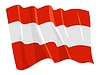 Vector clipart: waving flag of Austria