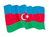 Vector clipart: waving flag of Azerbaijan