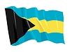 Векторный клипарт: Развевающийся флаг Багамских островов