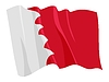 Векторный клипарт: развевающийся флаг Бахрейн