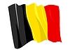 Векторный клипарт: развевающийся флаг Бельгии