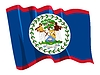 Vector clipart: waving flag of Belize