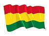 Vector clipart: waving flag of Bolivia