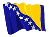 Vector clipart: waving flag of Bosnia and Herzegovina