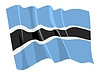 Vector clipart: waving flag of Botswana