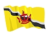 Vector clipart: waving flag of Brunei