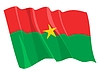 waving flag of Burkina Faso