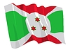 Vector clipart: waving flag of Burundi