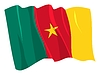 Vector clipart: waving flag of Cameroon