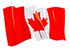 Vector clipart: waving flag of Canada