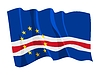 Vector clipart: waving flag of Cape Verde