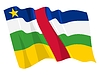 Vector clipart: waving flag of Central African Republic