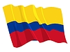Vector clipart: waving flag of Colombia