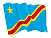 Vector clipart: waving flag of Congo