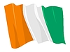 Vector clipart: waving flag of Cote-d`Ivoire