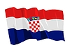 waving flag of Croatia
