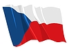 Waving flag of Czech Republic | Stock Vector Graphics