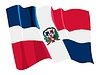 Vector clipart: waving flag of Dominican Republic