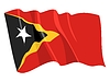 Vector clipart: waving flag of East Timor