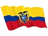 Vector clipart: waving flag of Ecuador