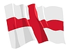 Vector clipart: waving flag of England