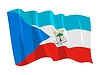 Vector clipart: waving flag of Equatorial Guinea