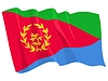 Vector clipart: waving flag of Eritrea