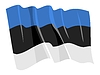 Vector clipart: waving flag of Estonia