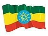 Vector clipart: waving flag of Ethiopia