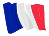 Vector clipart: waving flag of France